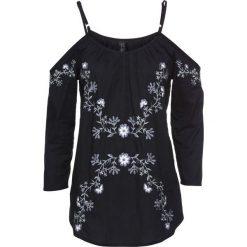Bluzki damskie: Bluzka z haftem bonprix czarny