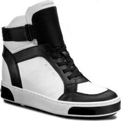 Sneakersy MICHAEL MICHAEL KORS - Pia High Top 43F6PAFE5L Opticwht/Blk. Czarne sneakersy damskie marki MICHAEL Michael Kors, z gumy, przed kolano, na wysokim obcasie. W wyprzedaży za 689,00 zł.
