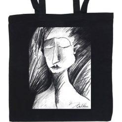 Shopper bag damskie: Szkic – torba (2 kolory)