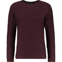 Swetry klasyczne męskie: Solid JARAH Sweter burgundy