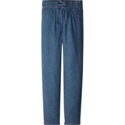 """Dżinsy Loose Fit bonprix niebieski """"stone"""". Czarne jeansy dziewczęce marki bonprix, w paski, z dresówki. Za 34,99 zł."""