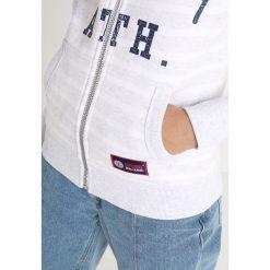 Superdry STATE ATH STRIPE ZIPHOOD Bluza rozpinana white. Szare bluzy rozpinane damskie marki Superdry, l, z nadrukiem, z bawełny, z okrągłym kołnierzem. Za 379,00 zł.