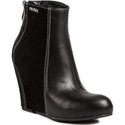 Botki MACCIONI - 167 Czarny. Czarne buty zimowe damskie Maccioni, z materiału, na obcasie. W wyprzedaży za 259,00 zł.