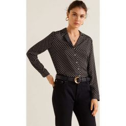 Mango - Koszula Mao. Brązowe koszule wiązane damskie Mango, l, w paski, z tkaniny, z długim rękawem. Za 99,90 zł.