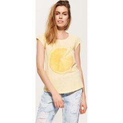 Bluzki, topy, tuniki: T-shirt z cytryną – Żółty