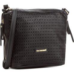 Torebka MONNARI - BAG8080-020 Black. Brązowe listonoszki damskie marki Monnari, w paski, z materiału, średnie. W wyprzedaży za 129,00 zł.