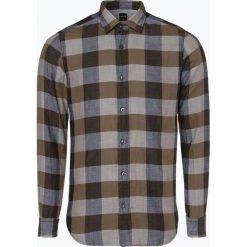 BOSS Casual - Koszula męska – Reggie, brązowy. Brązowe koszule męskie na spinki BOSS Casual, m, z bawełny, z dekoltem karo. Za 349,95 zł.
