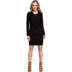 Sukienki dzianinowe: Sukienka z wiskozy – czarna
