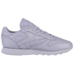 Skórzane buty sportowe w kolorze fioletowym. Fioletowe buty sportowe damskie Reebok, z materiału. W wyprzedaży za 289,95 zł.