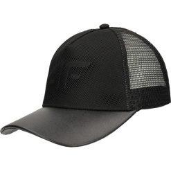 Czapka damska CAD203 - głęboka czerń. Czarne czapki z daszkiem damskie 4f, z materiału. Za 49,99 zł.