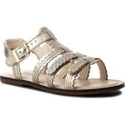 Sandały dziewczęce: Sandały CLARKS – Loni Moon 261321046 Gold Leather
