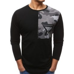 T-shirty męskie z nadrukiem: Longsleeve męski z nadrukiem czarny (lx0450)
