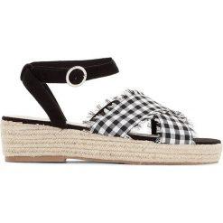 Rzymianki damskie: Sandały na koturnie ze sznurka, dla szerokiej stopu 38-45