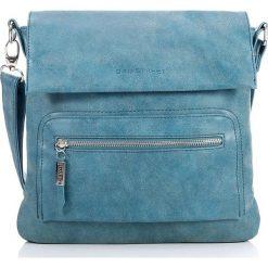 Niebieska listonoszka damska torebka Bag Street na ramię. Niebieskie listonoszki damskie marki Bag Street, w paski, ze skóry, na ramię. Za 99,00 zł.