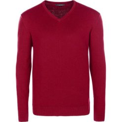Swetry klasyczne męskie: Sweter w kolorze czerwonym