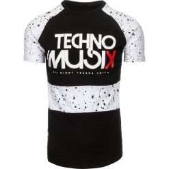 T-shirty męskie z nadrukiem: T-shirt męski z nadrukiem czarny (rx2199)
