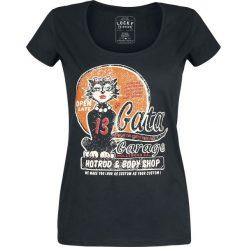 Bluzki asymetryczne: Lucky 13 La Gata Ladies T Koszulka damska czarny