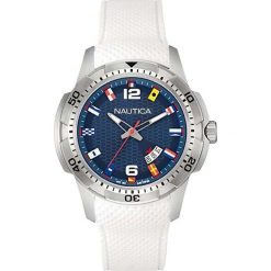 Zegarek Nautica Męski  NAI13514G NCS 16 Flags Date biały. Białe zegarki męskie Nautica. Za 413,15 zł.