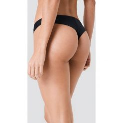 Stroje dwuczęściowe damskie: J&K Swim X NA-KD Gładki dół bikini - Black