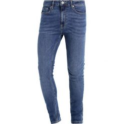 Topman SPRAY ON Jeans Skinny Fit dark blue. Niebieskie rurki męskie Topman. Za 169,00 zł.
