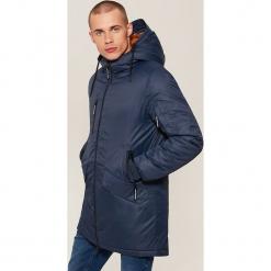 Płaszcz z kapturem - Granatowy. Niebieskie płaszcze na zamek męskie House, l. Za 299,99 zł.