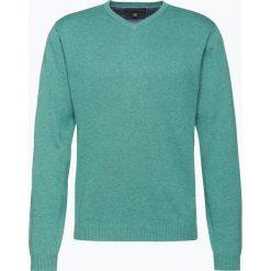 Finshley & Harding - Sweter męski z dodatkiem kaszmiru, zielony. Czarne swetry klasyczne męskie marki Finshley & Harding, w kratkę. Za 179,95 zł.