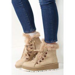 Beżowe Śniegowce New Age. Brązowe buty zimowe damskie vices. Za 99,99 zł.