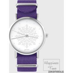 Zegarek - Płatek śniegu - fioletowy. Fioletowe zegarki damskie Pakamera. Za 129,00 zł.