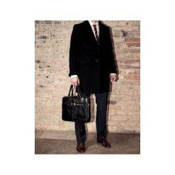Męska torba ze skóry na ramię, laptopa ROYAL czerń. Czarne torby na ramię męskie marki Solier, w paski, z bawełny. Za 529,00 zł.