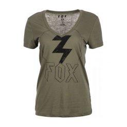 FOX T-Shirt Damski Repented M Khaki. Szare t-shirty damskie marki FOX, z bawełny. W wyprzedaży za 89,00 zł.