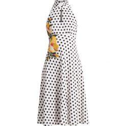 Sukienki hiszpanki: Karen Millen FLORAL EMBROIDERED ON POLKA DOT COLLECTION Sukienka letnia multicolour