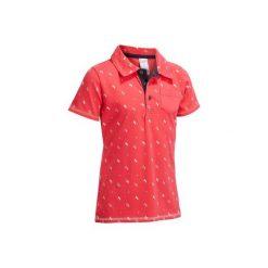 Bluzki dziewczęce: Koszulka polo PL140 różowa