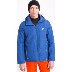 Kurtka narciarska męska KUMN001 - kobalt - 4F. Brązowe kurtki męskie zimowe marki 4f, m, z materiału, z kapturem. Za 199,99 zł.