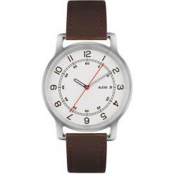 Zegarki męskie: Zegarek l'orologio męski na skórzanym pasku brązowy