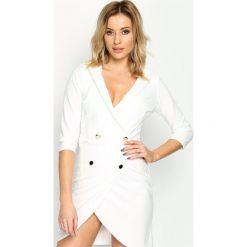 Sukienki: Biała Sukienka Four Buttons