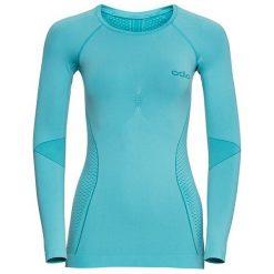 Odlo Koszulka damska Shirt l/s crew neck EVOLUTION WARM r. L (183131). Niebieskie topy sportowe damskie Odlo, l. Za 203,42 zł.