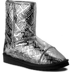 Buty LOVE MOSCHINO - JA24193H04JI0910 Embos.Peltro P. Szare buty zimowe damskie marki Love Moschino, ze skóry ekologicznej. W wyprzedaży za 449,00 zł.