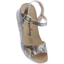 """Rzymianki damskie: Sandały """"Yucca"""" w kolorze beżowo-złotym"""