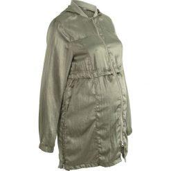 Długa kurtka ciążowa bonprix oliwkowy. Zielone kurtki ciążowe marki bonprix. Za 124,99 zł.