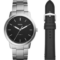Zegarki męskie: Zegarek FOSSIL – The Minimalist 3H FS5451SET  Black/Silver
