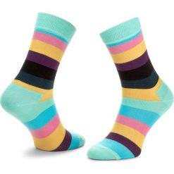 Skarpety Wysokie Unisex HAPPY SOCKS - STR01-7005 Kolorowy. Czerwone skarpetki męskie marki Happy Socks, z bawełny. Za 34,90 zł.