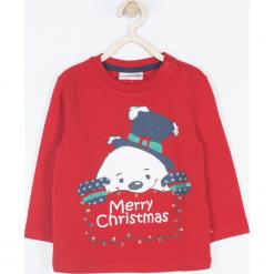 Koszulka. Białe t-shirty chłopięce z długim rękawem marki Merry Christmas, w kolorowe wzory, z bawełny. Za 42,90 zł.