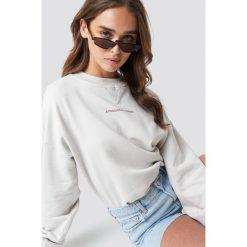 NA-KD Trend Bluza Passionate - Beige,Nude,Offwhite. Białe bluzy z nadrukiem damskie marki NA-KD Trend, z jersey, z okrągłym kołnierzem. Za 161,95 zł.