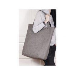 Mega Shopper bag szara torba oversize Vegan. Szare shopper bag damskie Hairoo, w paski. Za 170,00 zł.