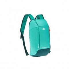 Plecak turystyczny NH100 10 l. Zielone plecaki męskie marki QUECHUA, z materiału. Za 12,99 zł.