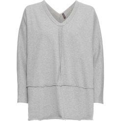 Bluza dresowa bonprix jasnoszary melanż. Szare bluzy damskie bonprix, melanż, z dresówki. Za 89,99 zł.