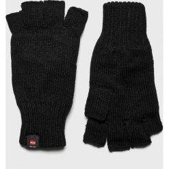 Trussardi Jeans - Rękawiczki. Czerwone rękawiczki damskie marki Trussardi Jeans, z jeansu. Za 189,90 zł.