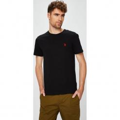 U.S. Polo - T-shirt. Brązowe koszulki polo marki U.S. Polo, l, z bawełny. W wyprzedaży za 139,90 zł.