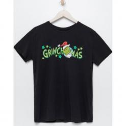 Męski t-shirt Grinch - Czarny. Czarne t-shirty męskie Sinsay, m. Za 39,99 zł.