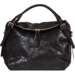 Torebki klasyczne damskie: Skórzana torebka w kolorze czarnym – 50 x 40 x 16 cm